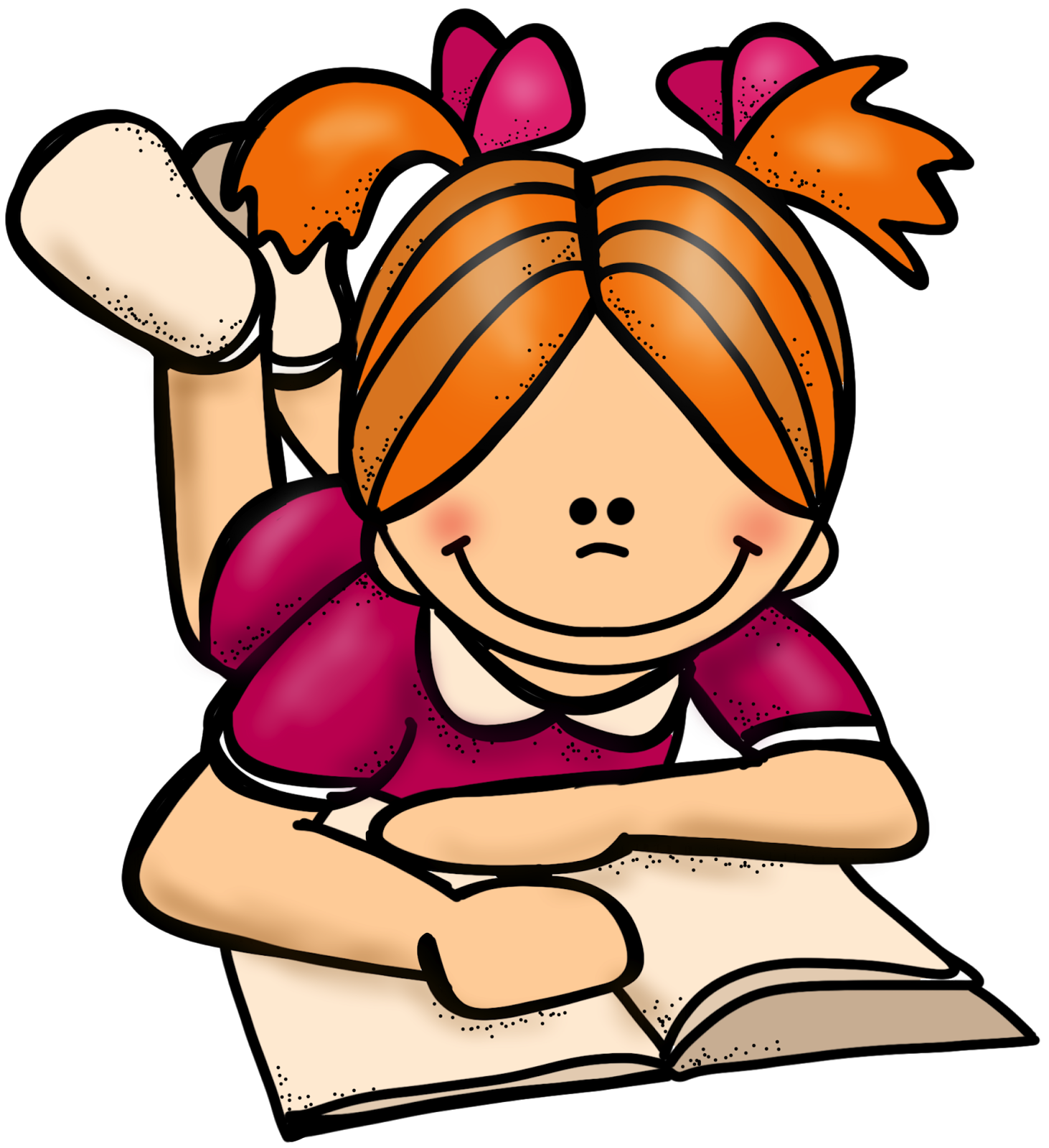 student reading clip art clipartsco