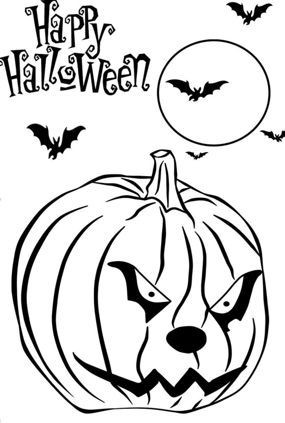 halloween black coloring pages - photo#19