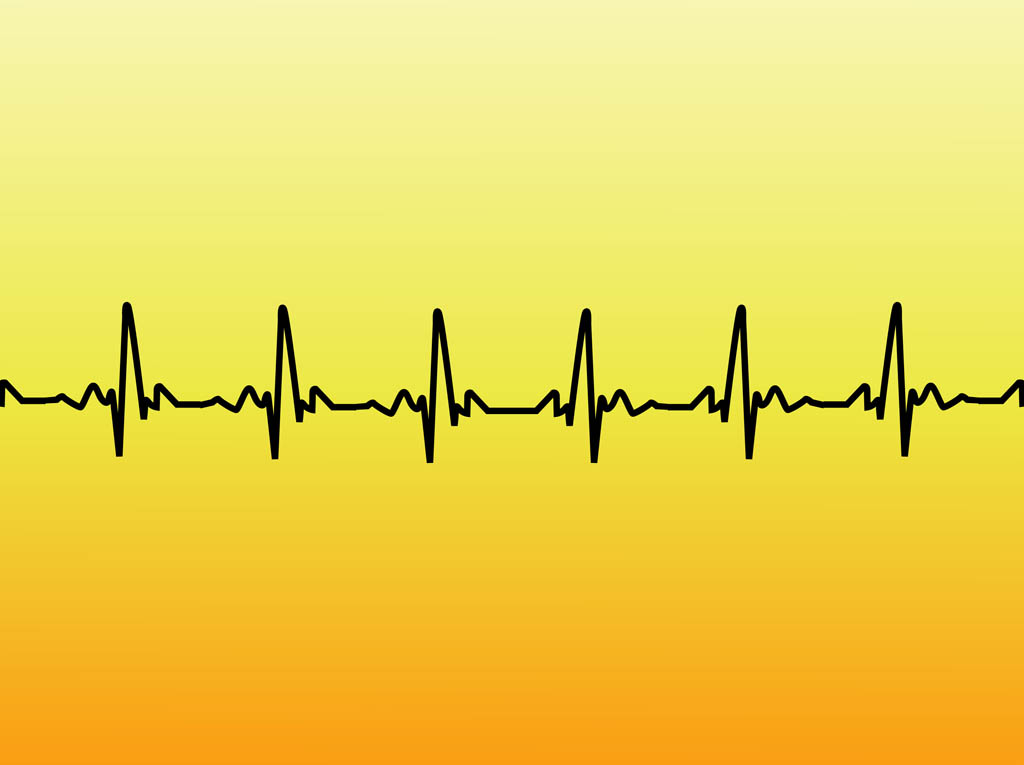 Heartbeat Line Art : Heart vector free cliparts