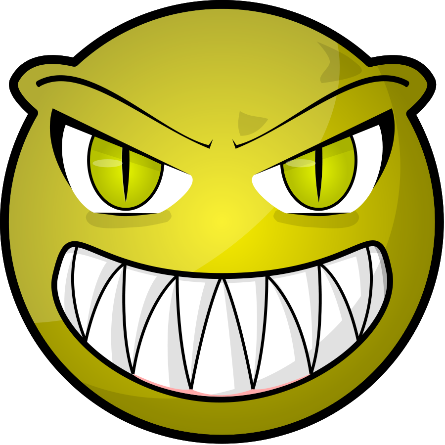 Clip Art Scared Face Scary face small clipart