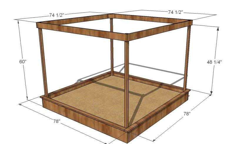 Pictures of sandboxes for Sandbox with built in seats plans