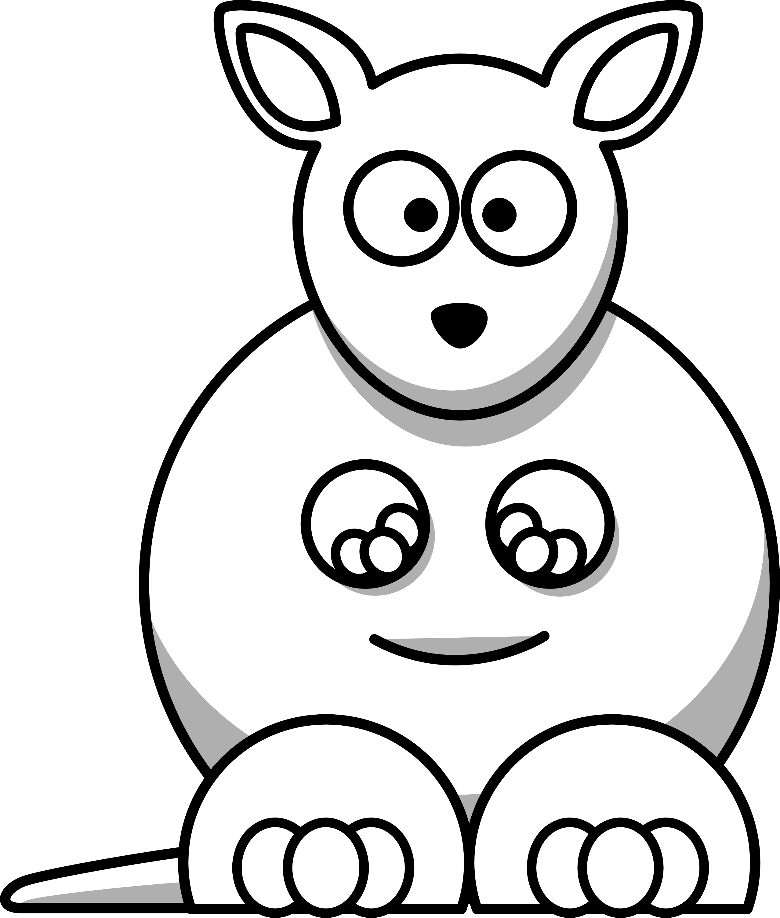 Clipart Animal Simple Line Drawing : Black and white drawings of animals cliparts