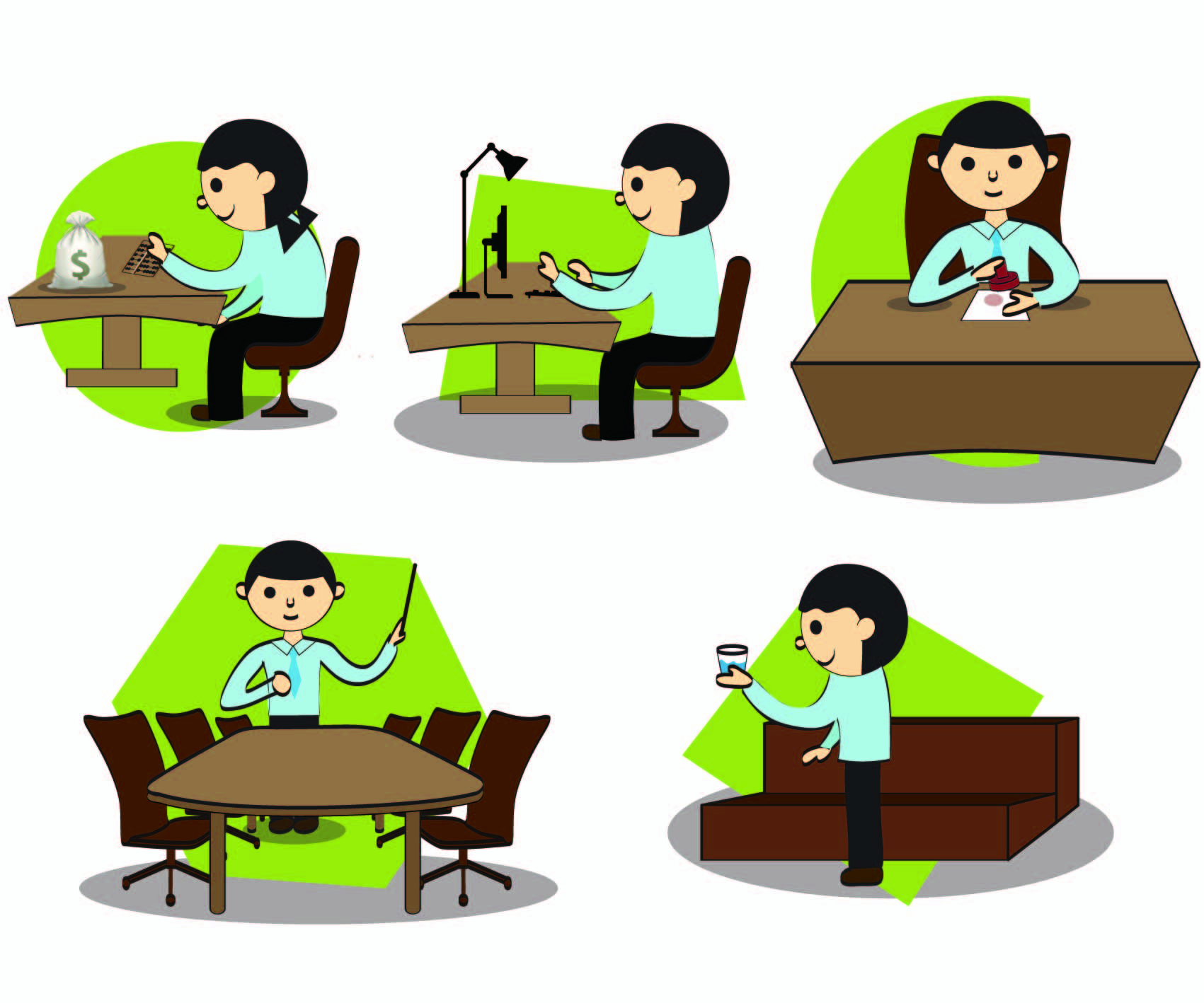 cartoon images of people at work clipartsco
