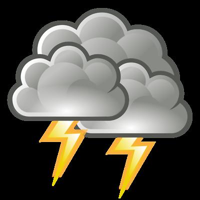 Pix For > Storm Clouds Lightning Clip Art
