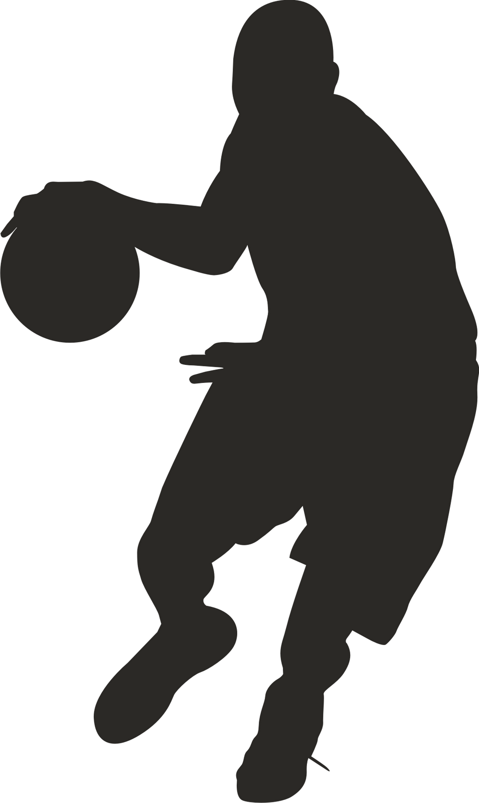 Basketball Player Clipart Black And White | Clipart Panda - Free ...