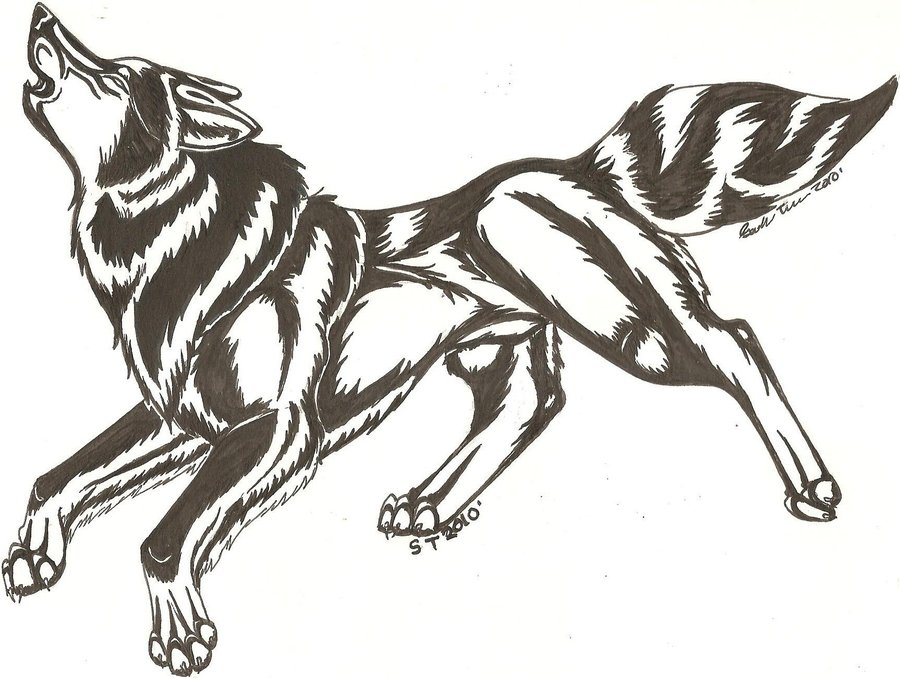running wolf tattoo. Black Bedroom Furniture Sets. Home Design Ideas