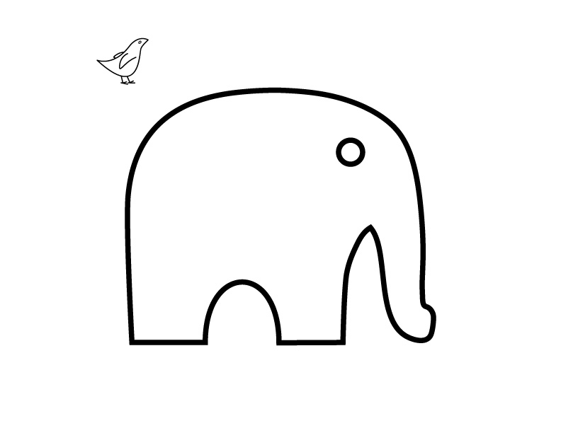 Simple Elephant Template Images & Pictures - Becuo