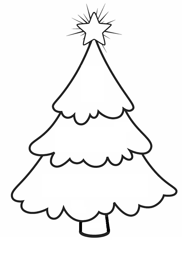 Christmas Tree Line Drawing Images : Christmas tree line drawing cliparts