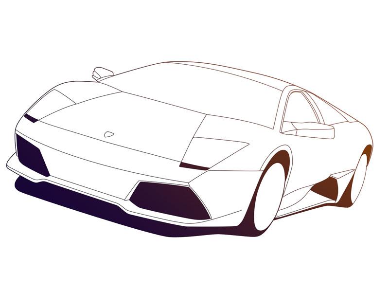 Line Art Car : Car line art cliparts