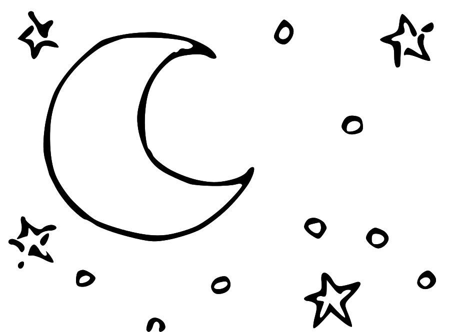 Line Drawing Moon : Stars clipart images cliparts