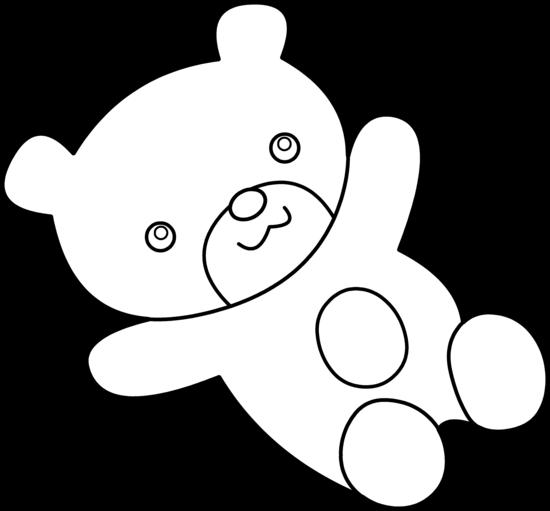 Teddy Bear Clip Art Black And White   Clipart Panda - Free Clipart ...
