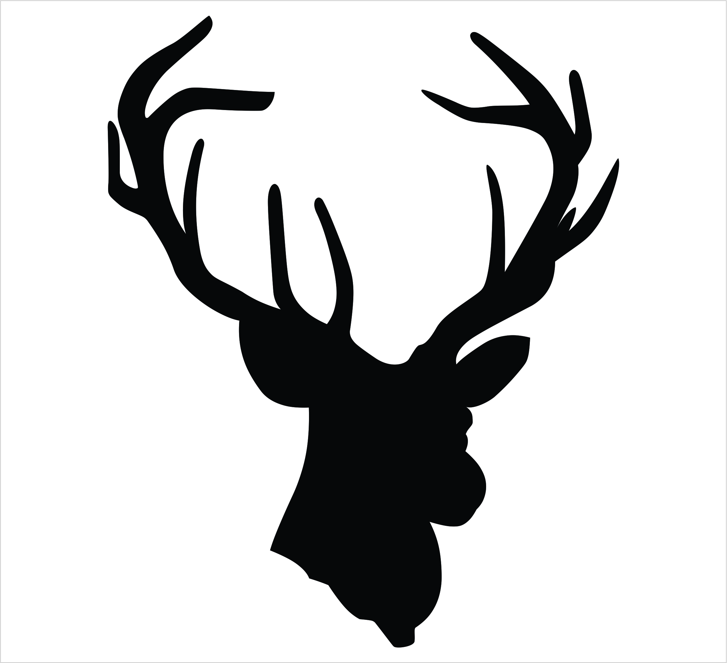 Crying Deep Art stock vector. Illustration of deer ...
