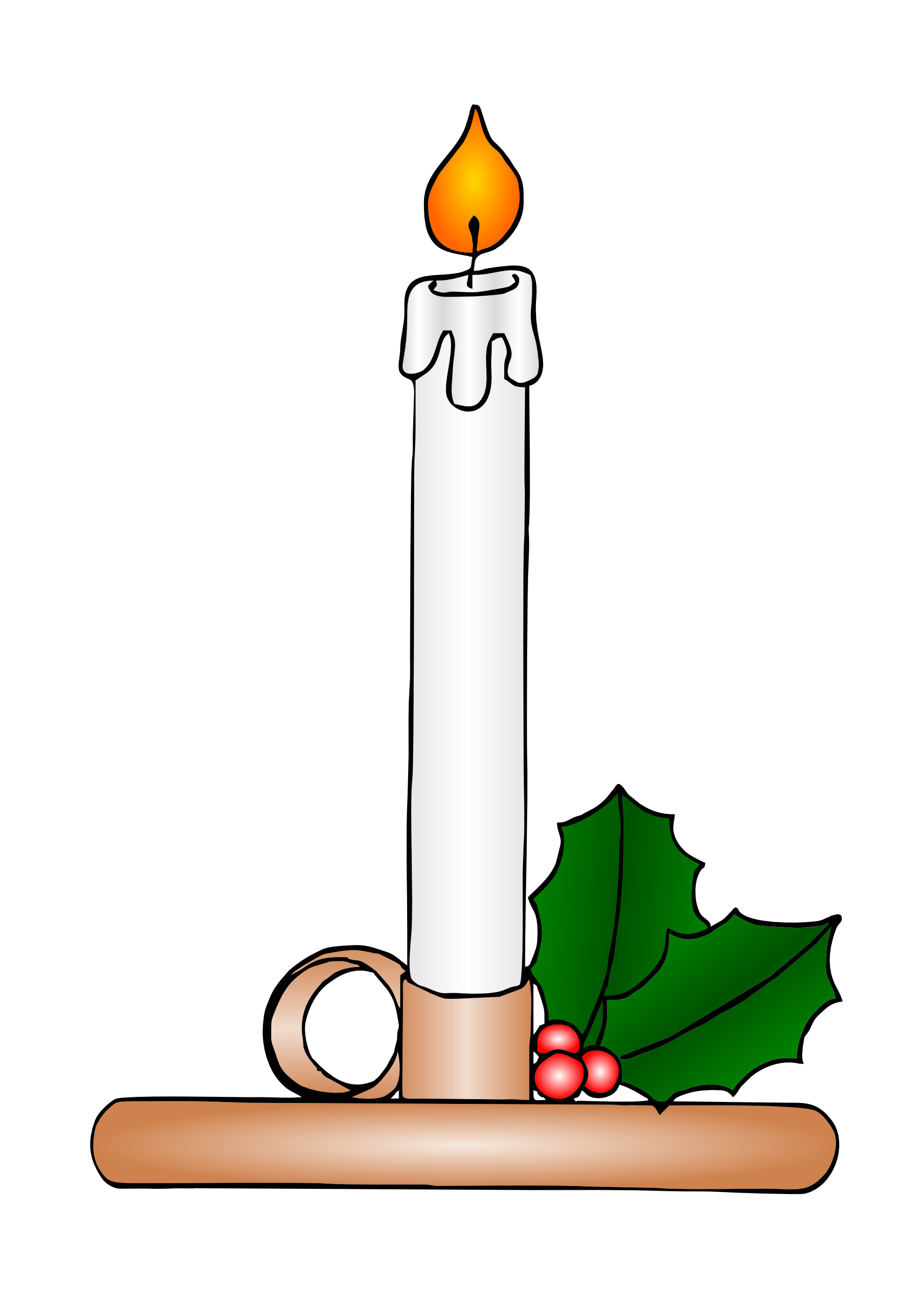 Christmas Candle Clipart - Cliparts.co