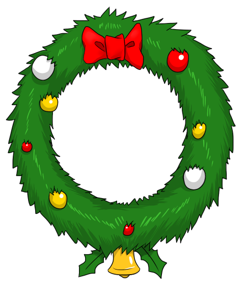 Free to Use & Public Domain Christmas Wreath Clip Art