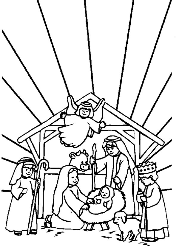 christmas nativity story coloring pages - photo#21