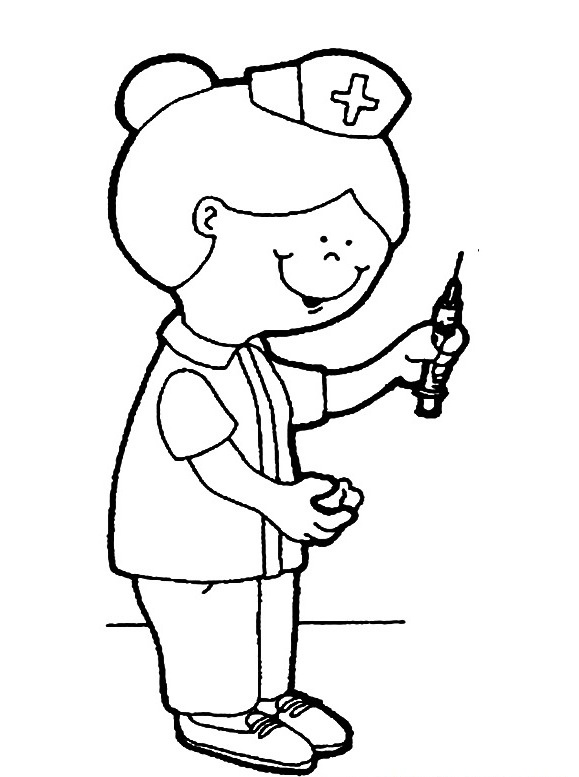 child nurse coloring pages - photo#20