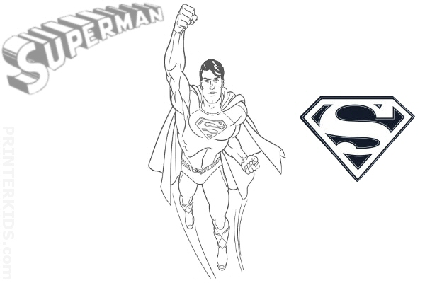Letter S in Superman Style Coloring Page - Get Coloring Pages | 400x600