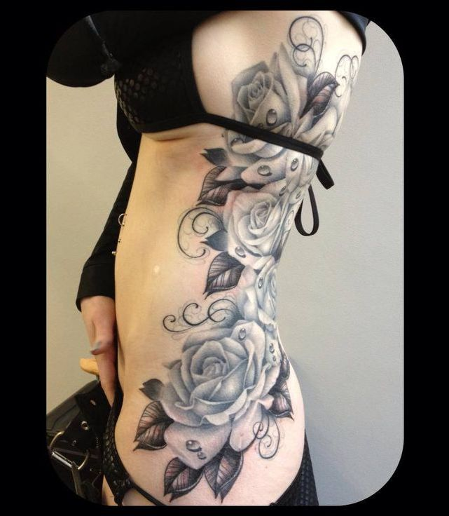 Rose Tattoo Black And White  Clipartsco