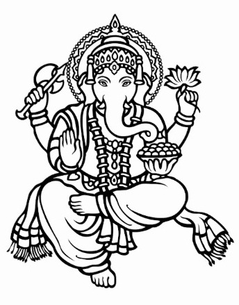 Ganesh Ji Drawing | Joy Studio Design Gallery - Best Design