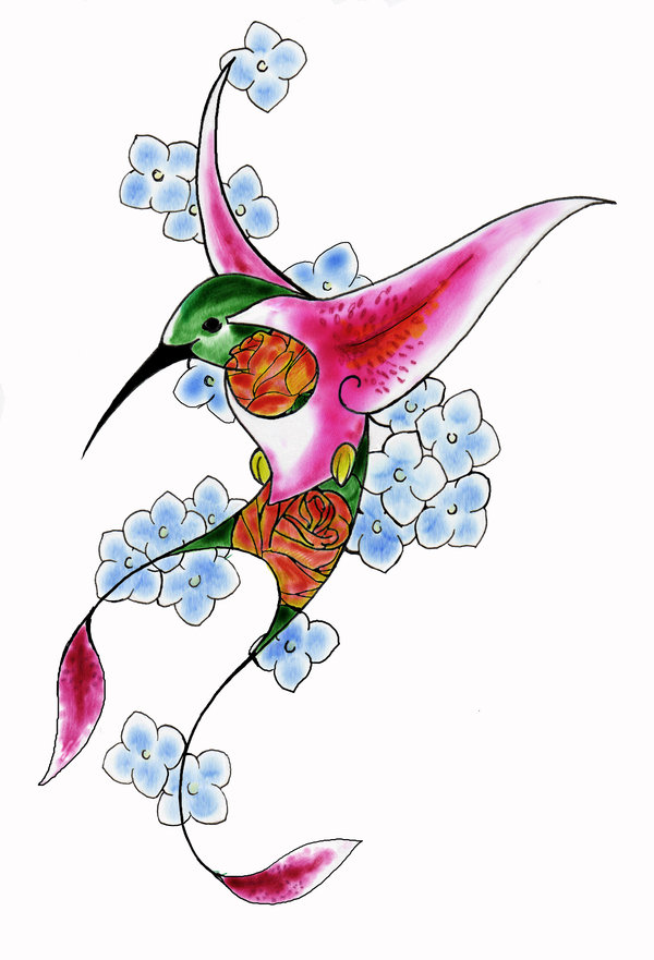 Hummingbird Tattoos and Designs : Page 74