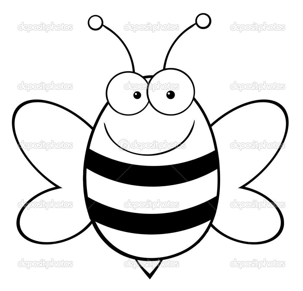Rare image in bee template printable