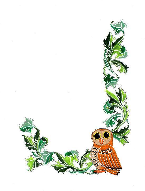 Owls clipart border