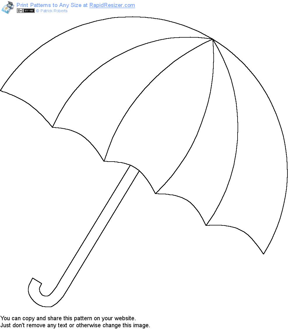 Шаблон зонтика для поделок