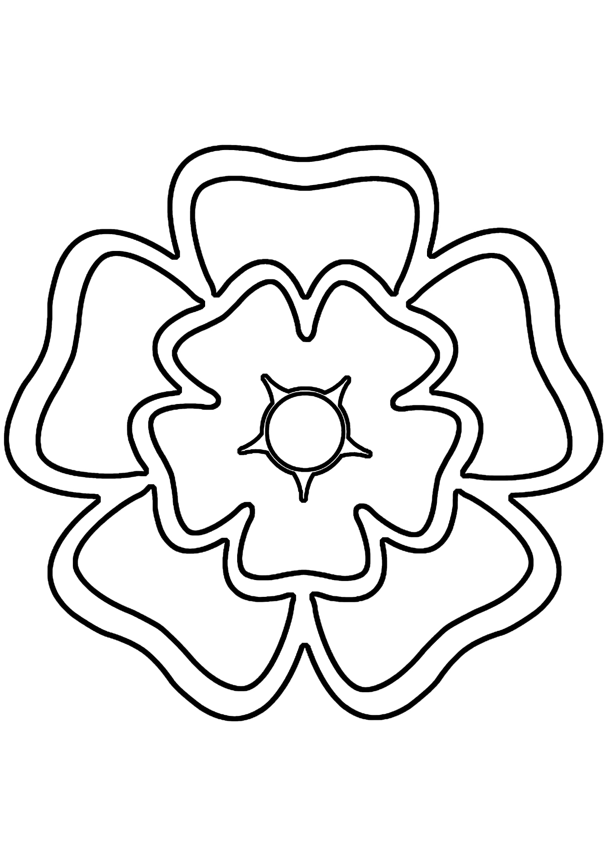 Line Art Flower Stencil Designs : Line drawing rose cliparts