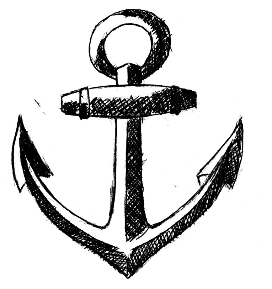 Black & White Anchor Tattoo | Tattoobite.com