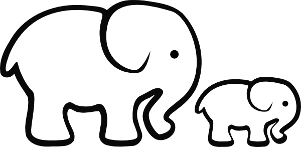 Elephant Clipart Outline - Gallery