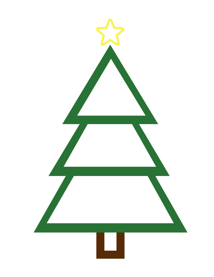 Christmas Tree Outline Printable | quotes.