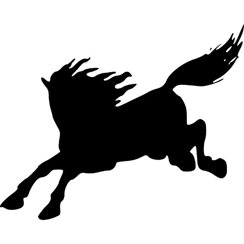 Running Horse Silhouette - Cliparts.co