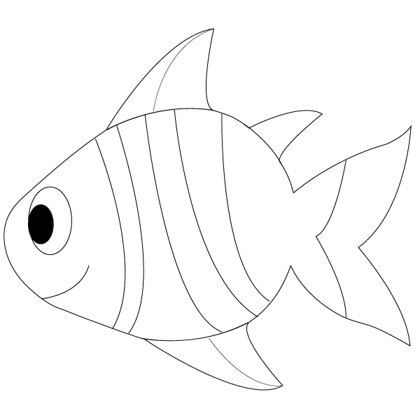Simple Fish Line Art : Simple fish drawing cliparts