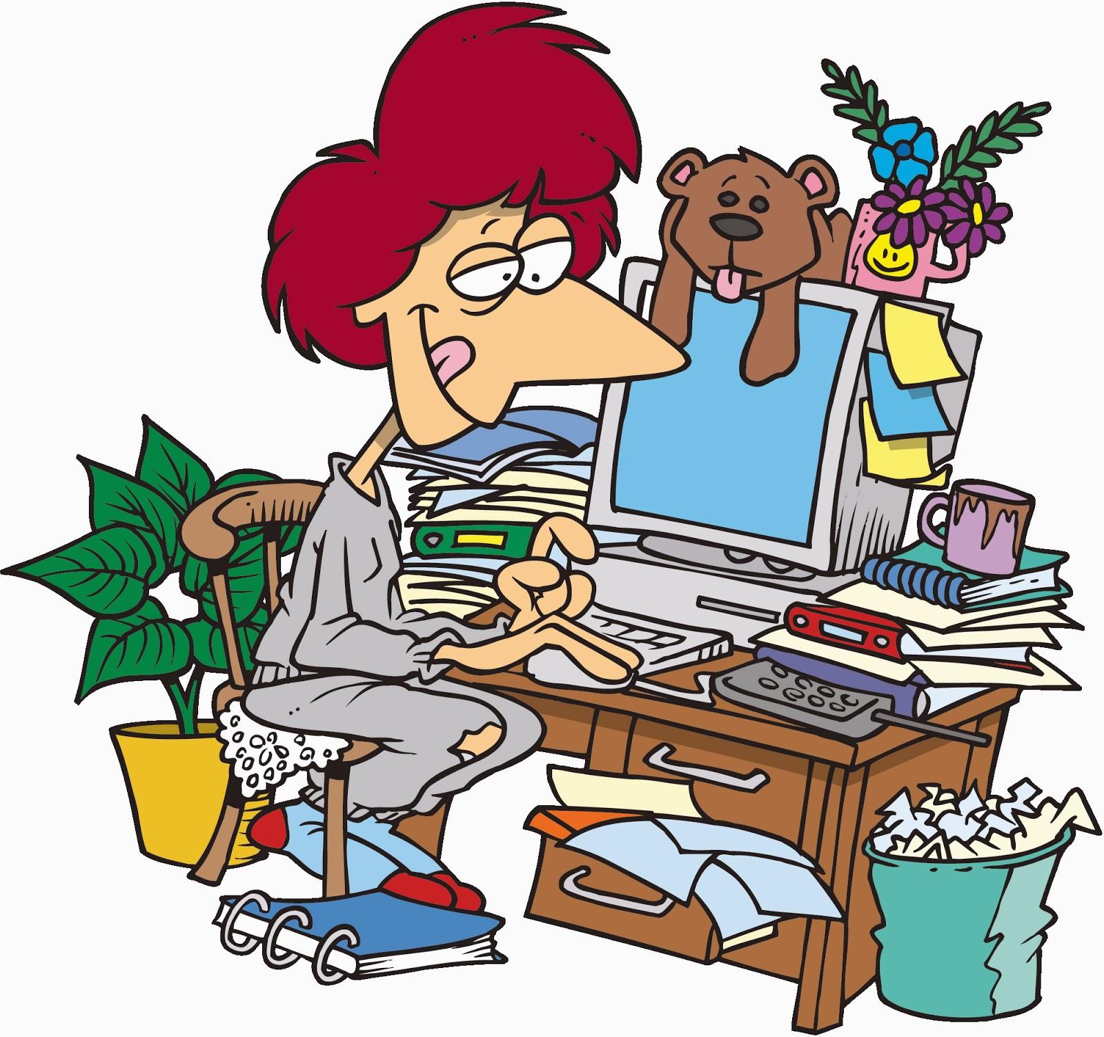 Messy desk clipart for Cuarto desordenado