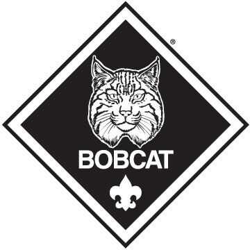 Bobcat clipart black and white