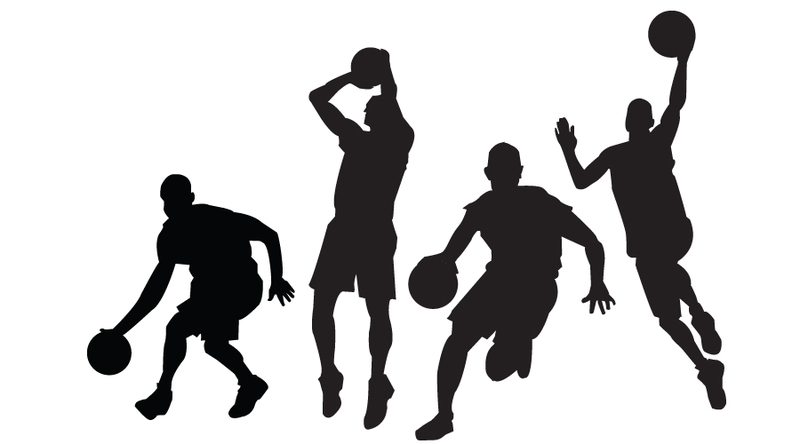 Basketball player logo