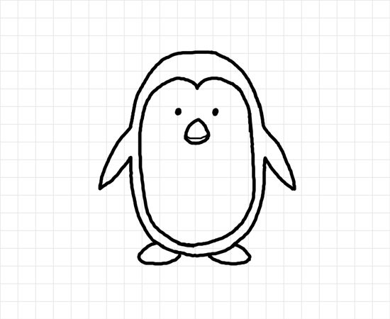 Line Drawing Penguin : Printable pictures of penguins cliparts