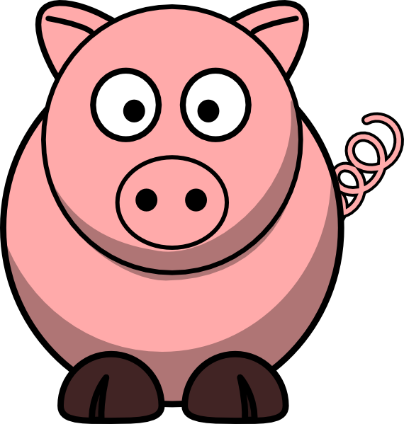 free clip art pink pig - photo #16
