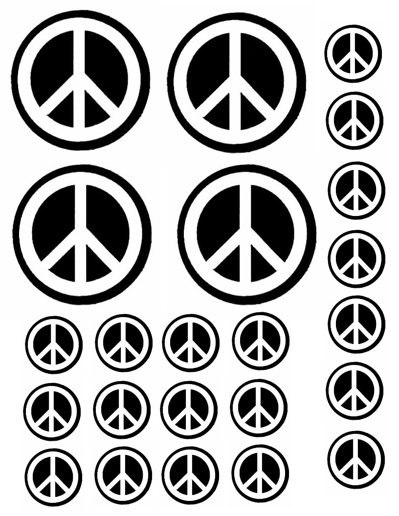 Printable Peace Sign Crafts - Bresaniel™ Consulting Ltd. - Global ...