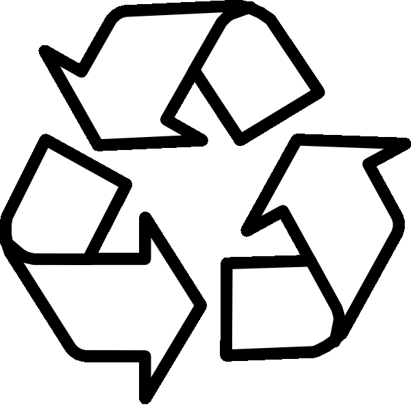 Recycling Symbol Outline Coloring Pages - Recycle Coloring Pages ...