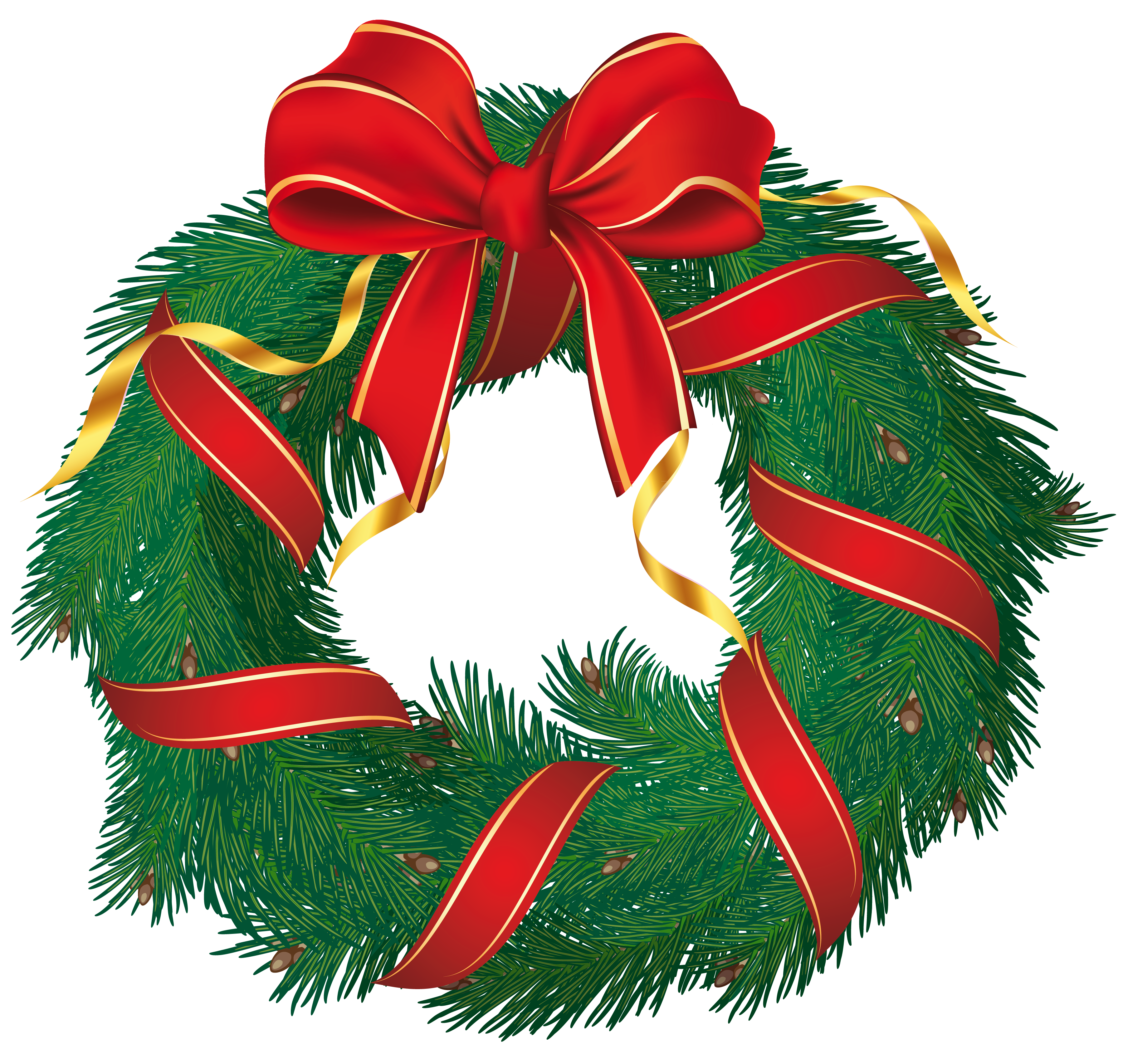 Christmas Wreath Pictures - Cliparts.co