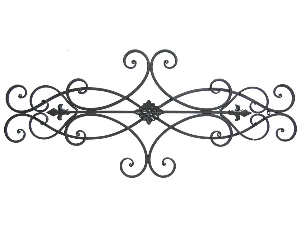 Hobby Lobby Large Metal Wall Decor : Brown scroll metal wall decor with floral center