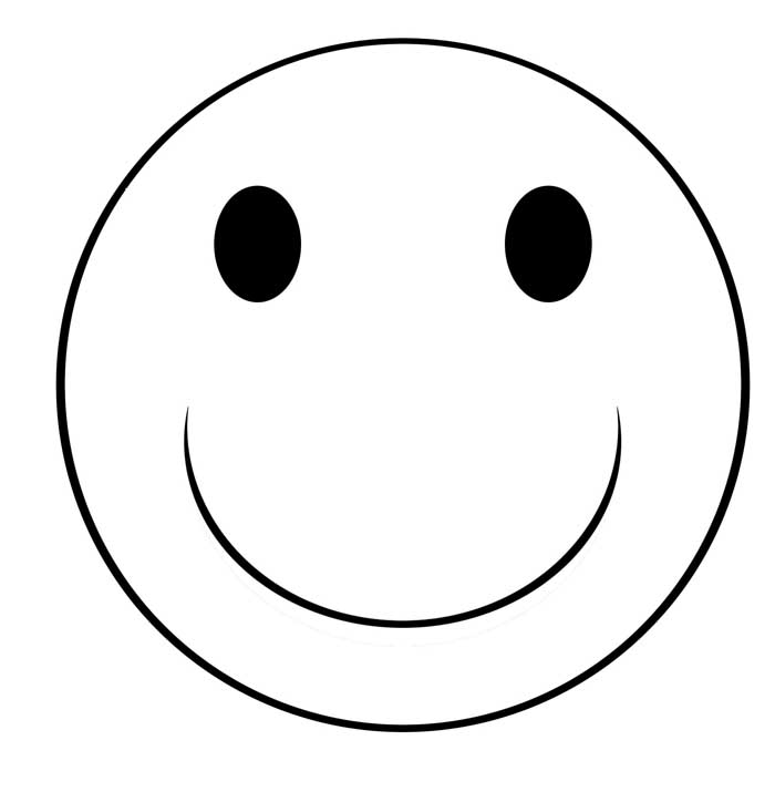 Smiley Face Clipart Black And White | Clipart Panda - Free Clipart ...