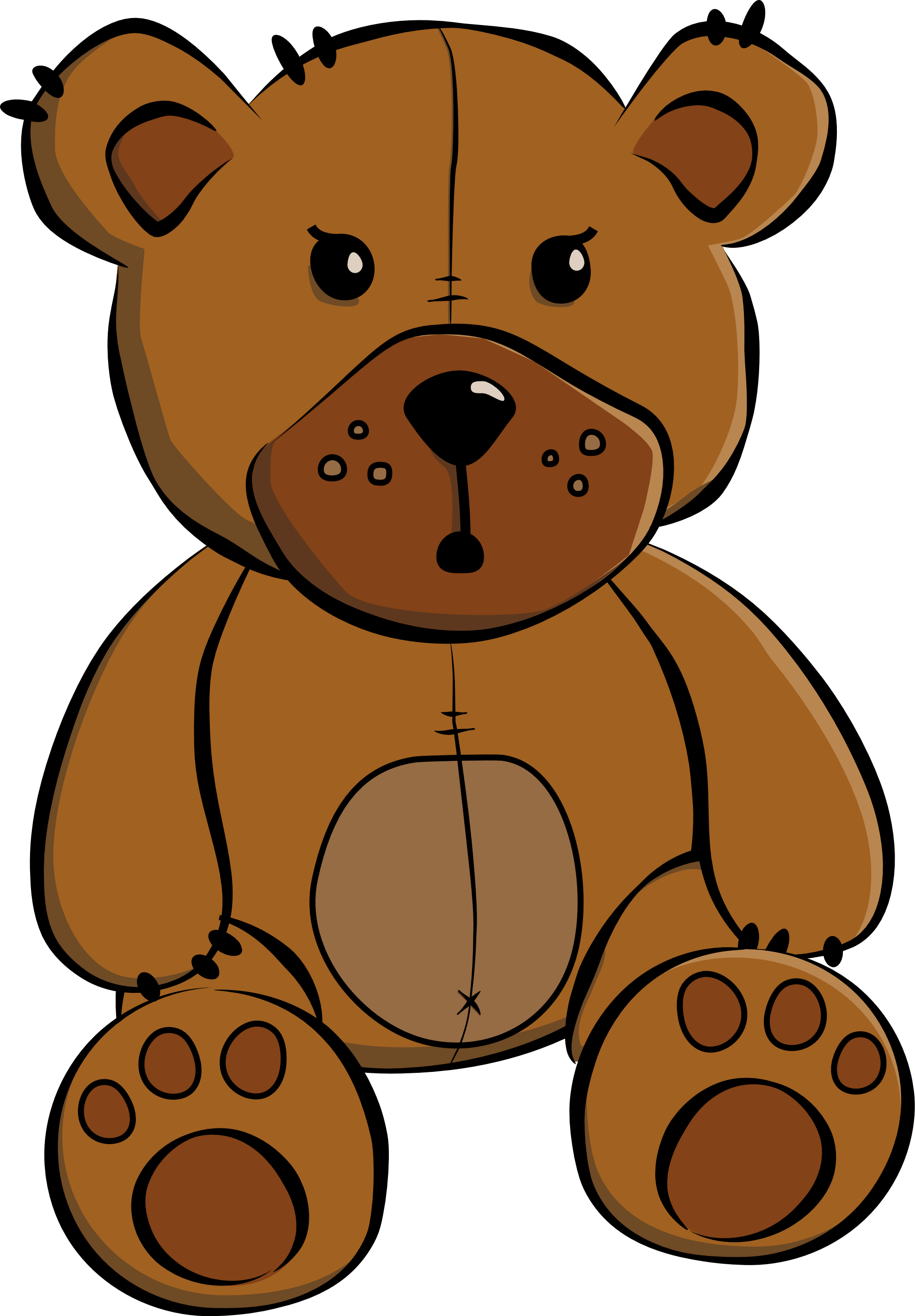 Cute Cartoon Teddy Bears - Cliparts.co