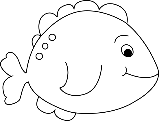 Black and White Little Fish Clip Art - Black and White Little Fish ...
