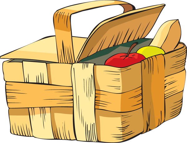 Picnic Basket Graphic : Picture of a picnic basket cliparts