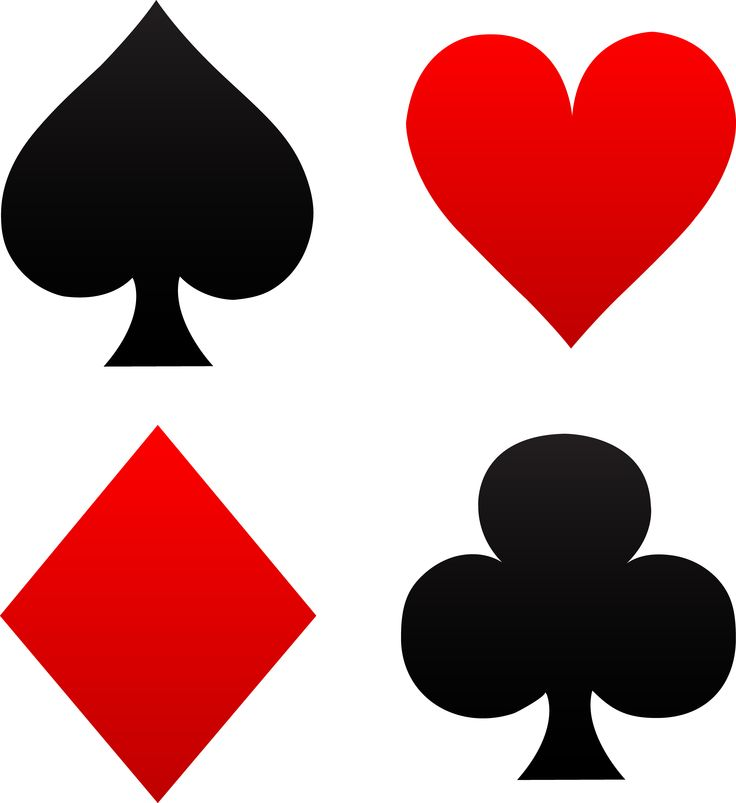 Playing cards symbol Etsy