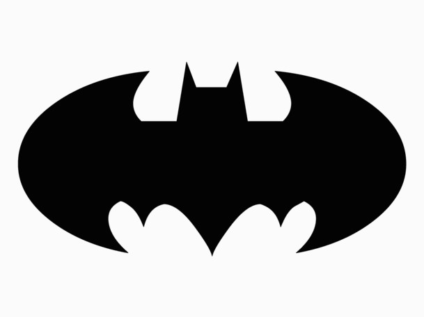 batman symbol black and white