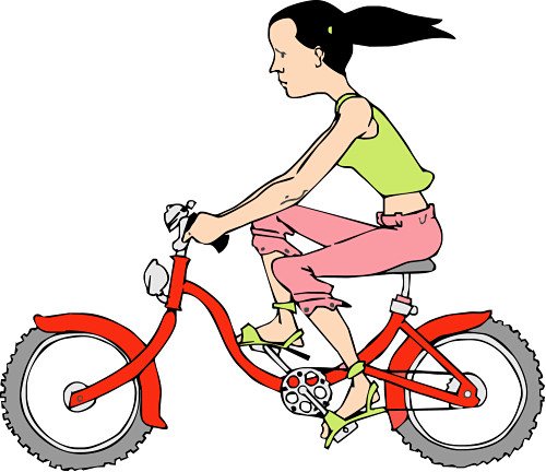 free clip art bike rider - photo #31