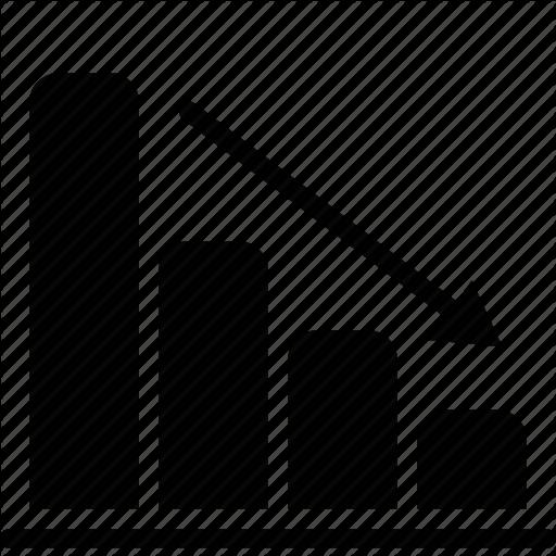 Bar, chart, down, graph icon | Icon search engine